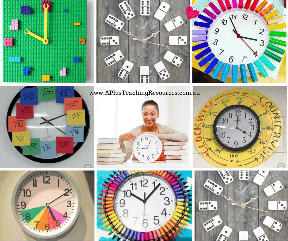 DIY Classroom Clock Ideas For Teachers