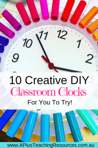 DIY Classroom clock ideas