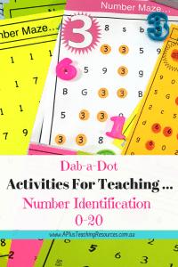 Dab a dot number maze Activities
