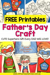 Father's Day Superhero Craft Free Printables Image