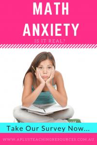 Math anxiety questionnaire