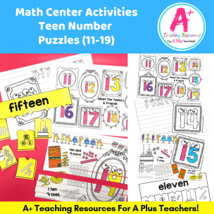 Learning Teen Numbers Puzzles (11-19) product image
