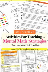 Mental Maths Free Printables