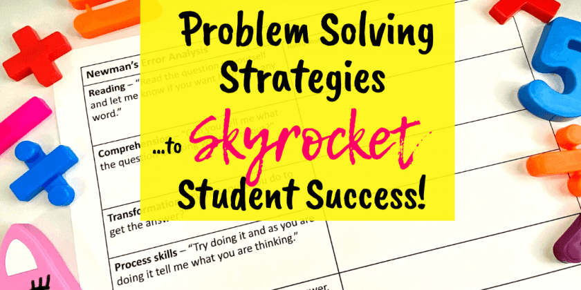 Using Newman's Prompts To Skyrocket Math Problem Solving! {FREE Template}