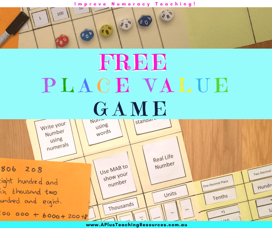Place Value Folder Free Template