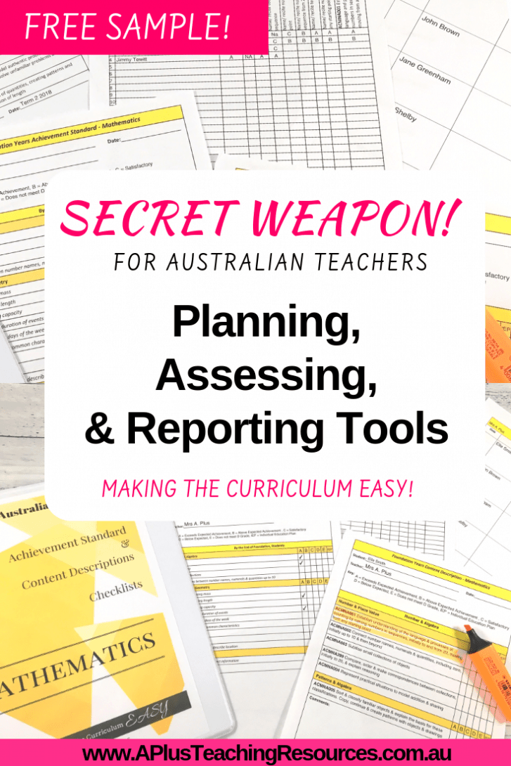 Planning, Assessing & Reporting Checklists