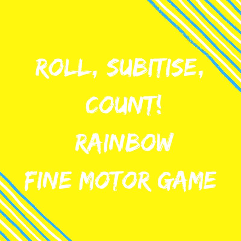 Fine Motor Rainbow Math Game