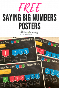 FREE Saying Big Numbers Posters