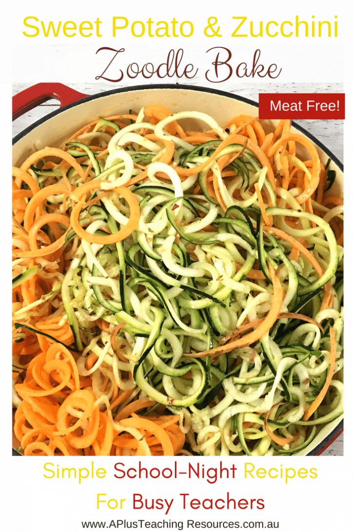 Zucchini Sweet Potato Zoodle Noodles