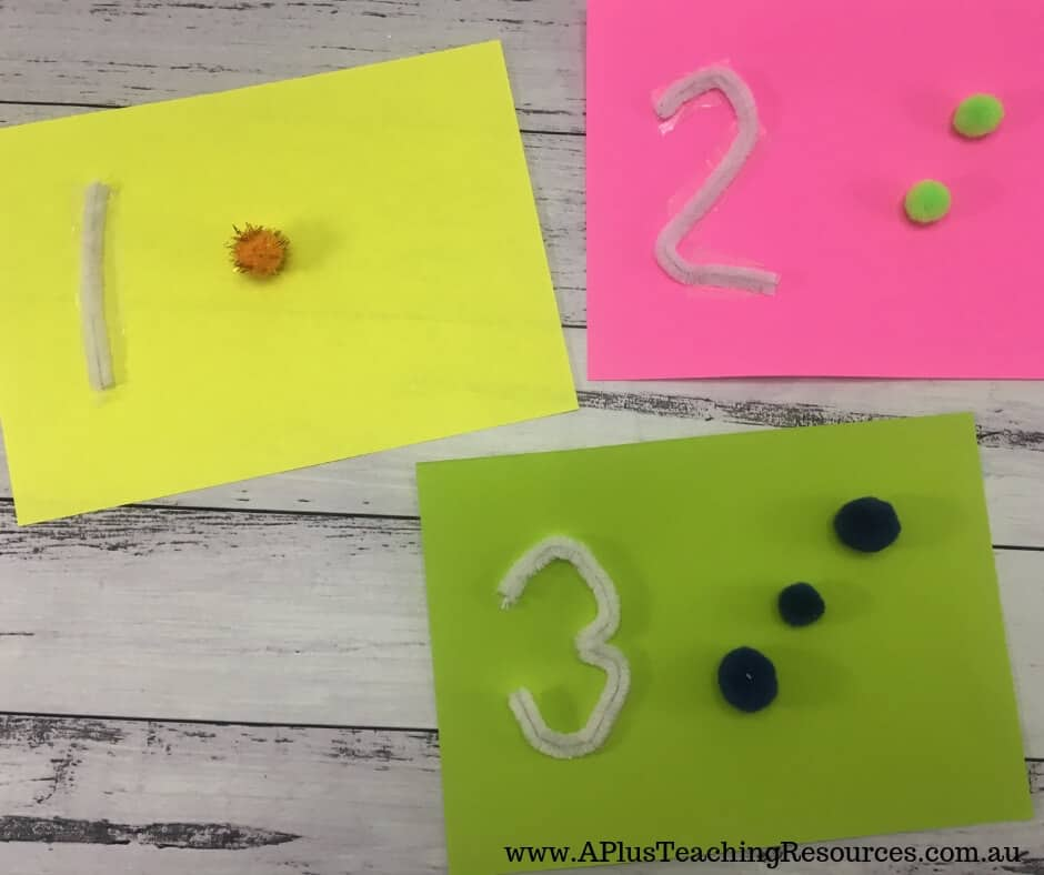 Tactile numbers for number identification