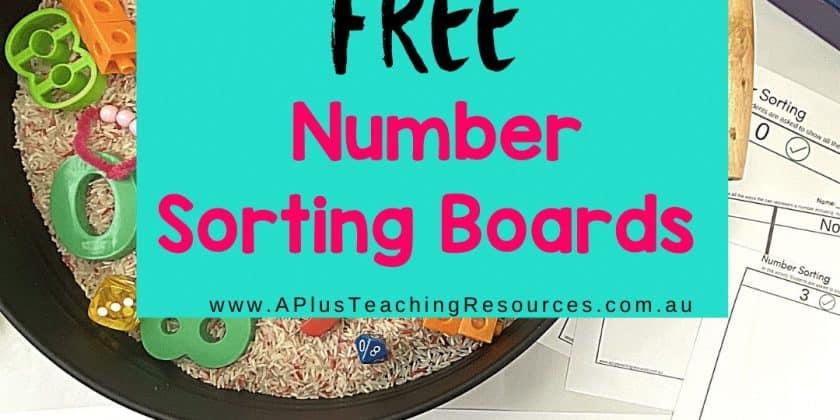 Number Sort Think Board {Frayer Model Activities 0-10}