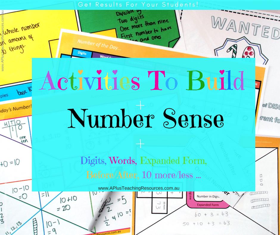 Math Activities To Build Number Sense