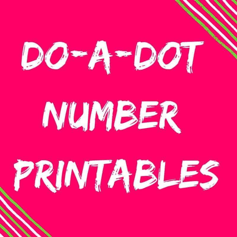 Classroom Essentials Do-A-Dot Number Printables {FREE Download!}